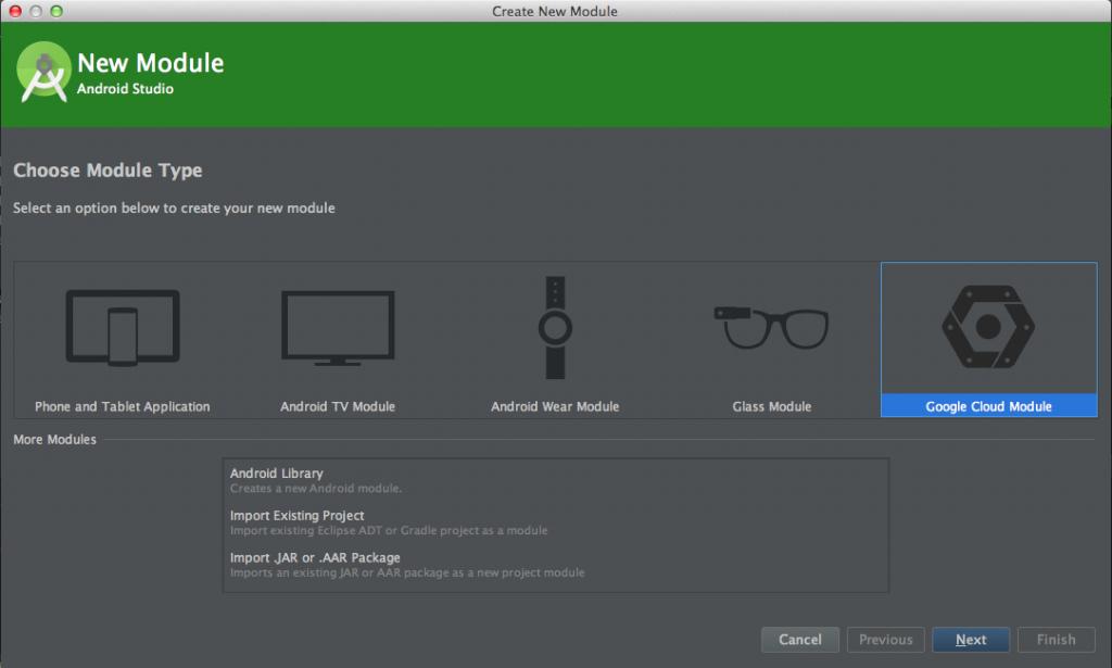 Android Studio > New Module